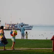 Balatonmáriafürdő, free strand at the Harbour
